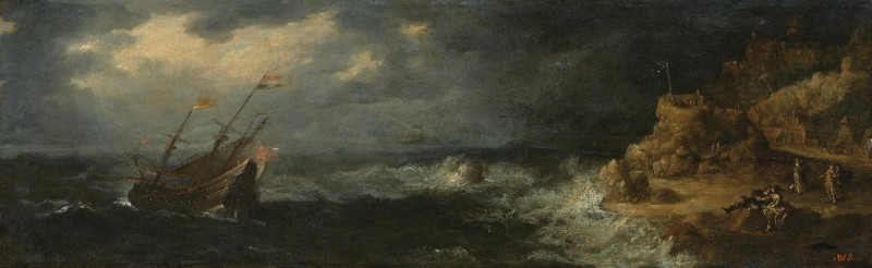 Storm at Sea (Lovers on the Seashore)