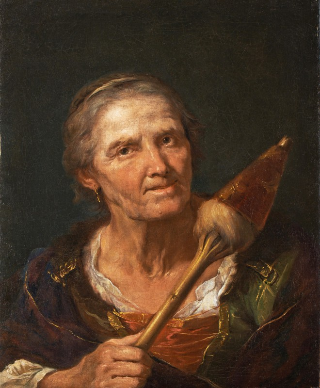 Portrait of an Old Woman with a Spindle