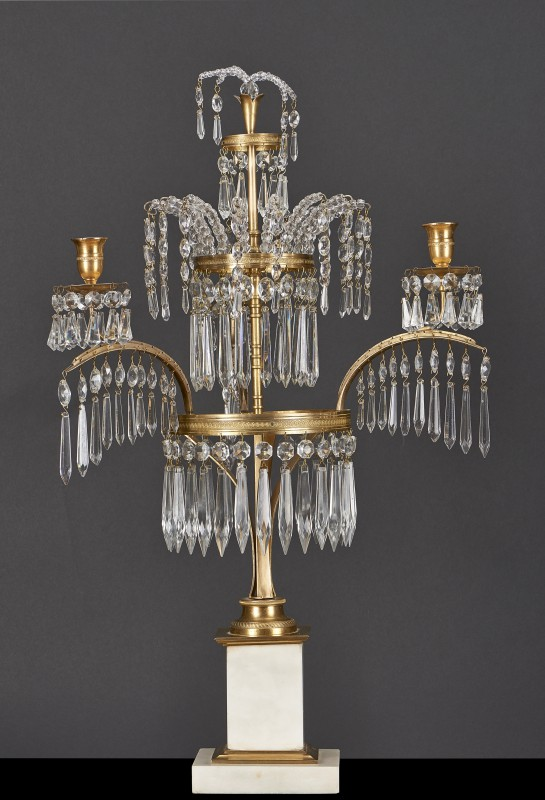 Three-sconce candelabra, so-called fountain