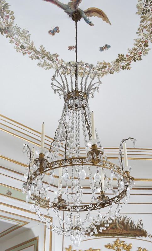 Six-sconce chandelier