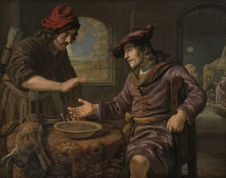 Esau Selling His Birthright to Jacob for a Pottage of Lentils - 1