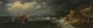 Storm at Sea (Lovers on the Seashore) - 1