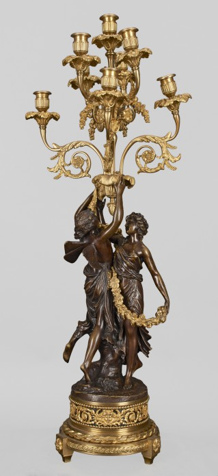 Eight-branch candelabra with figures of Zephyr and Flora - 2