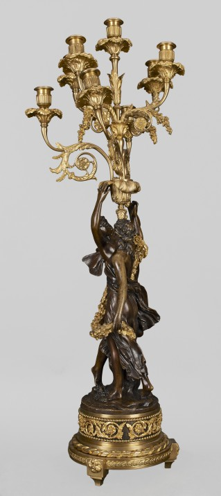 Eight-branch candelabra with figures of Zephyr and Flora - 3