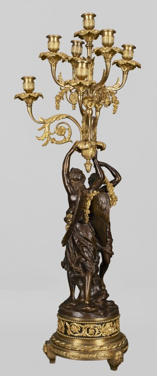 Eight-branch candelabra with figures of Cupid and Psyche - 1