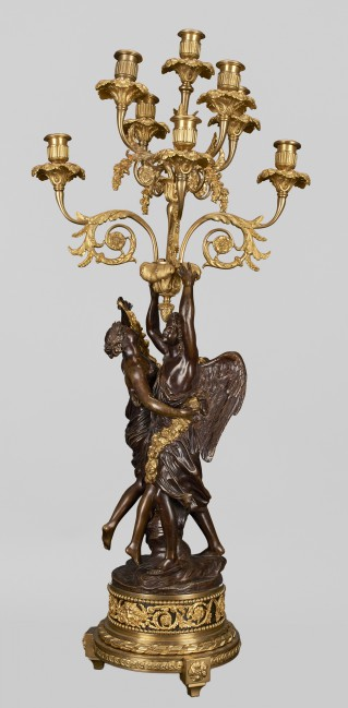 Eight-branch candelabra with figures of Cupid and Psyche - 2