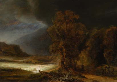Rembrandt In The Royal łazienki Landscape With The Good