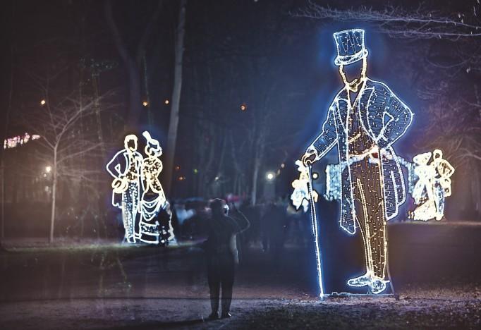 świąteczna Iluminacja Rozświetliła łazienki Królewskie