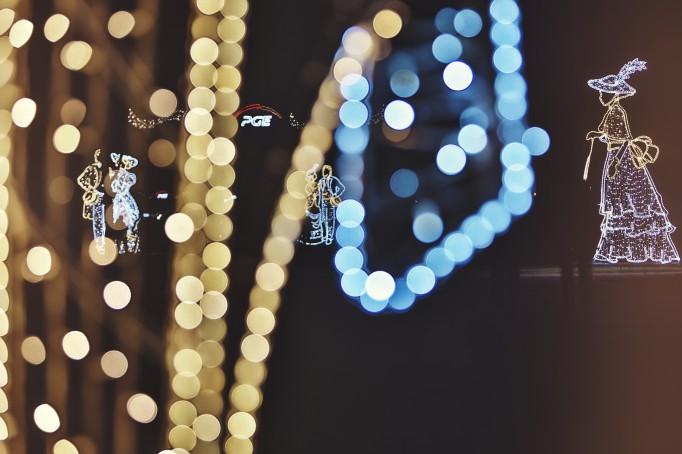 świąteczna Iluminacja łazienki Królewskie