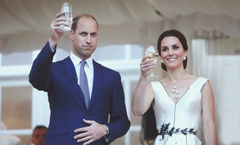 Prince William and Duchess Kate on reception in Royal Łazienki