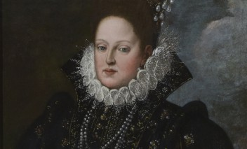 "The exhibition of the ""Portrait of Margherita Gonzaga"". See the famous work of art credited to Rubens"