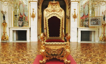 The throne of the kings of Poland in the Palace on the Isle